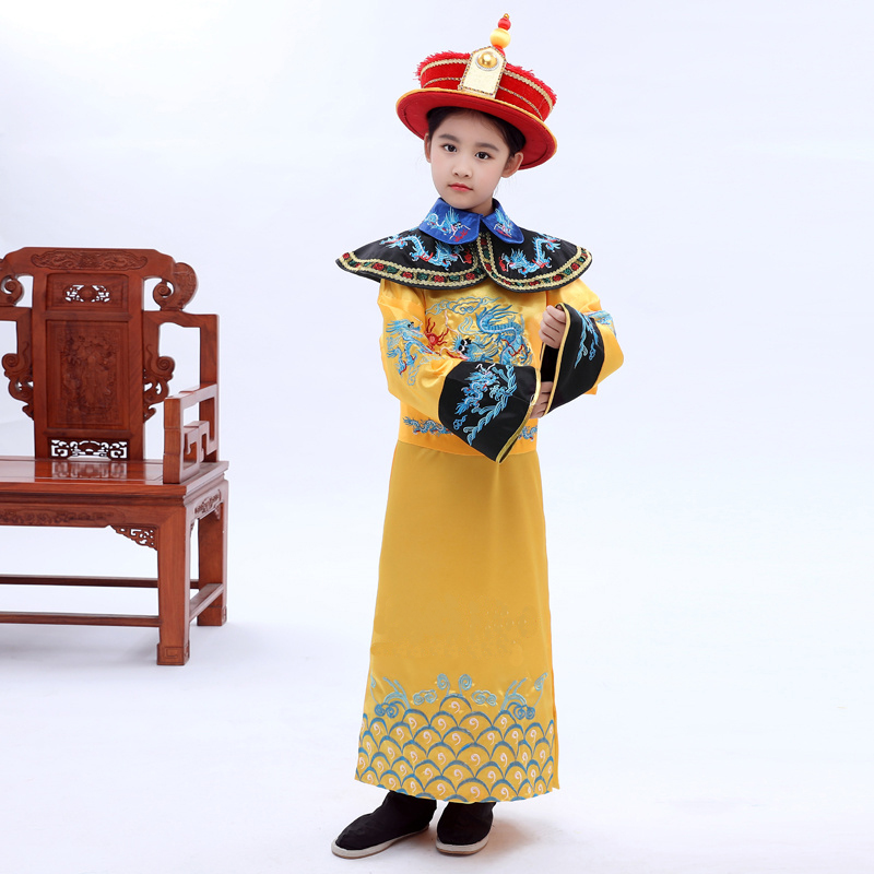 Chinese Children Emperor With Hat Costume Chinese Ancient Hanfu Dance Costumes Kids Qing Dynasty Boy Traditional National Robe 8-in Robe u0026 Gown from Novelty ...  sc 1 st  AliExpress.com & Chinese Children Emperor With Hat Costume Chinese Ancient Hanfu ...