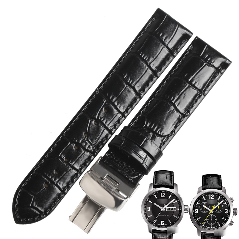 WENTULA <font><b>watch</b></font> band for Tissot T055 <font><b>PRC200</b></font> T055410A/417/430 calf-leather band cow leather Genuine Leather <font><b>watch</b></font> band image