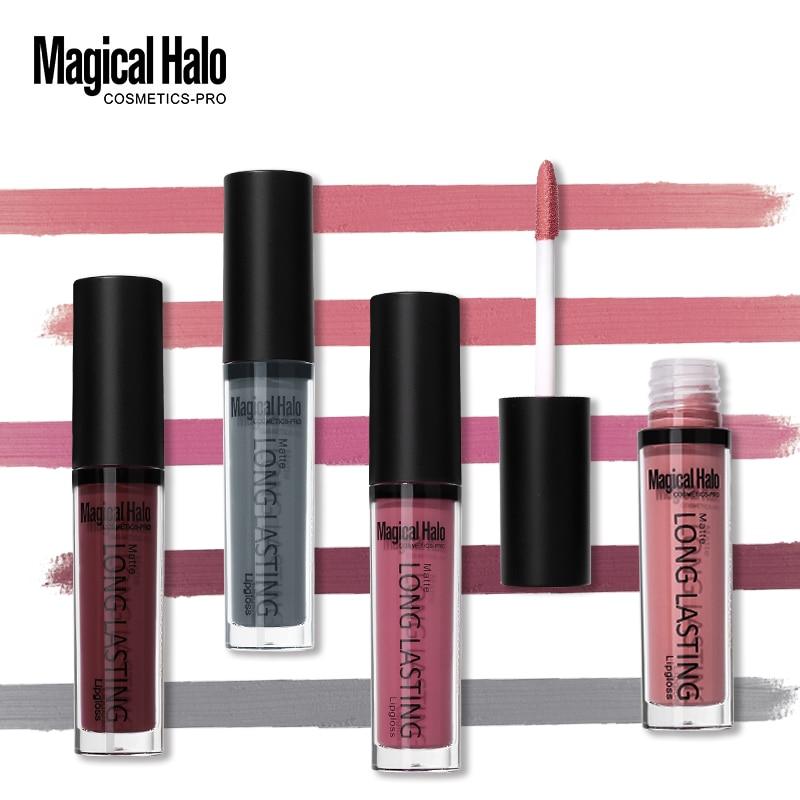 20-38 színek Varázslatos Halo folyékony rúzs hosszú élettartamú ajakfény Matte Lip Stick vízálló Lipgloss Tattoo Nude Cosmetcis Berry