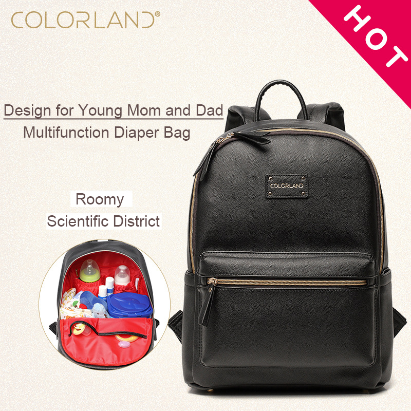 Diaper Bags Backpack Fashion Mummy Nappy Changing Maternity Bag Baby Care Organizer For Mom Dad Mother & Kids Travel COLORLAND fashion maternity backpack baby bags for mom diaper bag for travel multifunctional mother mummy bag nappy waterproof backpack