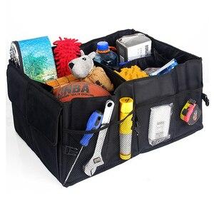 Image 2 - Органайзер для заднего сиденья автомобиля, многоцелевой держатель, сумка для хранения, универсальная складная сумка для укладки, аксессуары для интерьера багажника