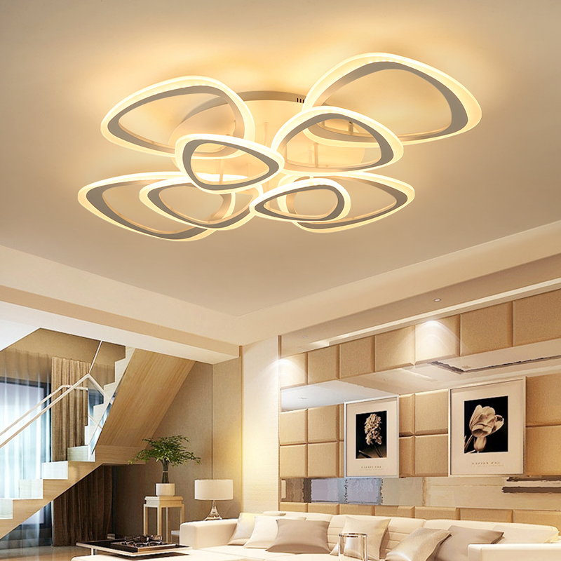 Remote control LED ceiling lights Modern for living room Bedroom hallway home lighting fixtures acrylic body Ceiling Lamp