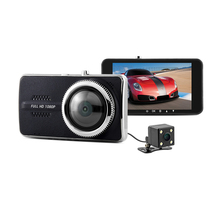 Small-eye Car Dvr Camera Dvrs Novatek 96658  HD 1080P Dual Lens Dash Cam 170 Degree Wide 4.0inch Video Recorder Dashboard Camera