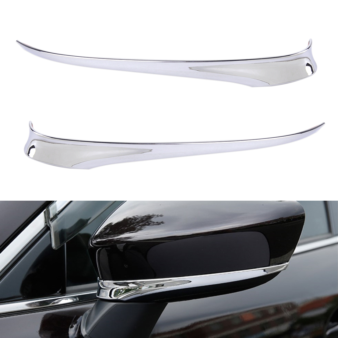 beler New Chrome Plated ABS Car Rearview Side Mirror Cover Trim Stipe Strip Fit for Mazda 6 Atenza 2014 2015 2016 2017 chromesupply mazda 2 demio chrome side mirror cover with led side blinker trim