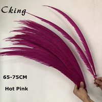65 75cm Natural real Pheasant Tail Feathers White Pheasant Feathers For Crafts Wedding Costume Feathers copper chicken feather