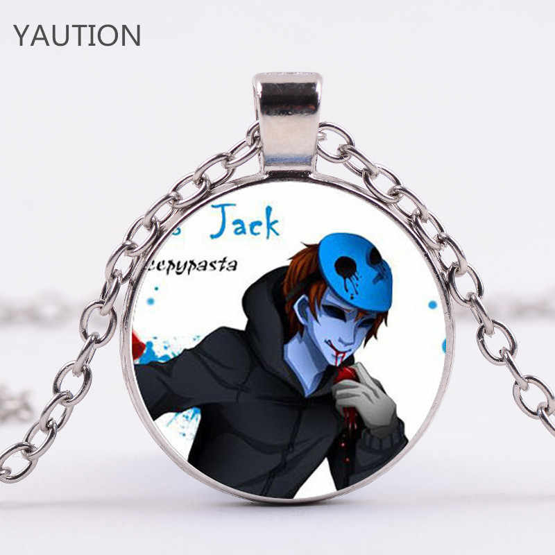 2017 New Phụ Kiện Thời Trang Gift For Kids Hot Creepypasta CREEPY PASTA TICCI TOBY Glass Pendant Necklace