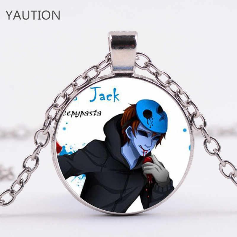 2020 nuevo accesorio de moda para niños caliente Creepypasta PASTA espeluznante TICCI TOBY cristal colgante collar