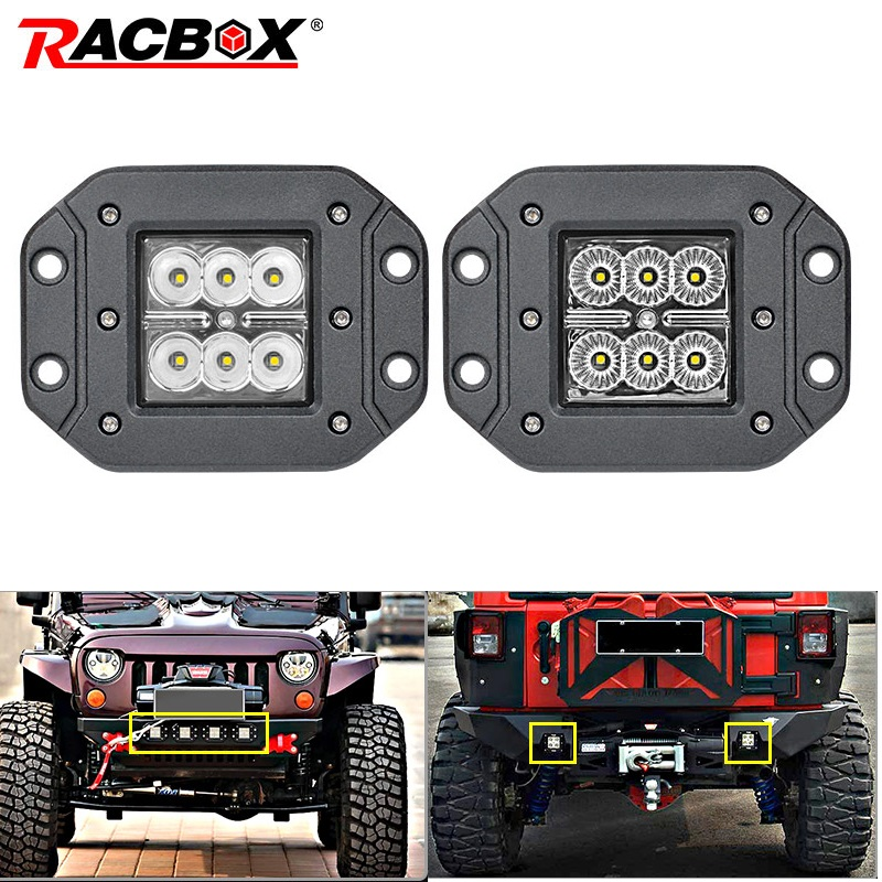 18W Car Headlight LED Work Light Bar Spotlight for Off Road ATV UTV Kamaz UAZ 4x4 car boat Auto Driving Fog Light Car StylingLight Bar/Work Light   -