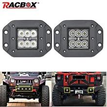 18W Car Headlight LED Work Light Bar Spotlight for Off Road ATV UTV Kamaz UAZ 4x4 car boat Auto Driving Fog Light Car Styling