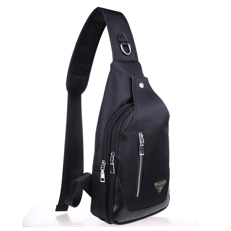 New 2017 Waterproof Nylon Men's Chest Bags Casual Sling Crossbody Messenger Bags Male Large Capacity Traveling Shoulder Bags
