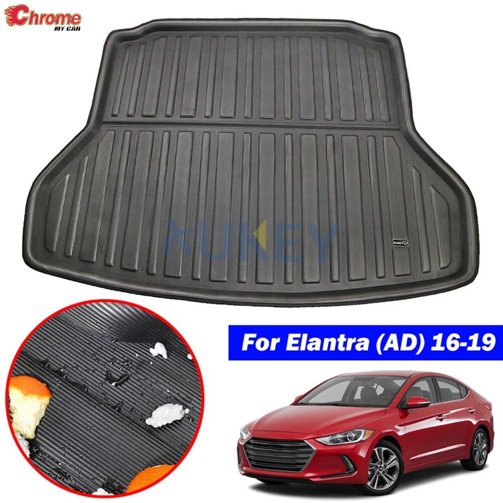 Para Hyundai Elantra / Avante AD 2016 2017 2018 2019 alfombrilla de maletero forro de carga bandeja de suelo alfombra Protector accesorios de coche