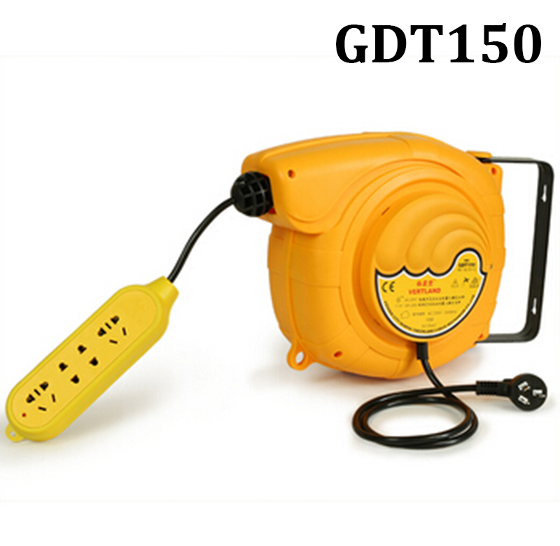 Automatic Telescopic Drum Cable Tray 220V Plug Board Line 15 Meters Electric Automatic Hose Reel GDT-150 automatic spanish snacks automatic latin fruit machines
