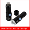 Super Bright Zoom Cree Q5 USB Led Flashlight Military Flashlight  Black Lights Tactical Torch Lighting for Hunting