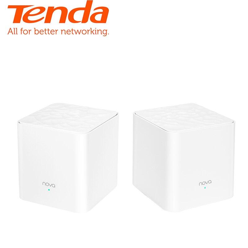 Tenda Nova MW3 Dans Toute La Maison Maille WiFi Gigabit Système avec AC1200 2.4G/5.0 GHz WiFi Routeur Sans Fil et répéteur, APP Gérer À Distance