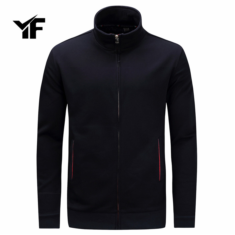 YF 2018 Winter Hoodies for Men 100%Cotton Long Sleeve Pocket Thick Keep Warm Fashion Pullovers Coat Outwear
