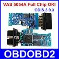 El más nuevo 5054A Con la Viruta de OKI VAS5054A Bluetooth ODIS 3.0.3 Para VW/AUDI/SKODA/ASIENTO EVA 5054 Soporta Protocolos UDS Chips completo