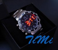 Luxury Diving Sports LED Light Chronograph Mens Watch blue