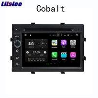 Liislee 2 din навигационная система для Android gps для Chevrolet Cobalt 2012 ~ 2018 Радио стерео Мультимедиа большой экранный проигрыватель Bluetooth