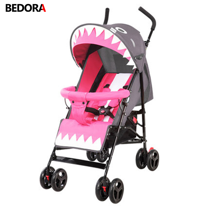Baby Stroller Lightly portable fold Can sit half-lying Mini Buggy Simple trolley Baby cart folding Baby trolley children cart mige stroller baby trolley cart folding baby carriage baby cart can be lying on the baby cart portable cart pram with 3 gift