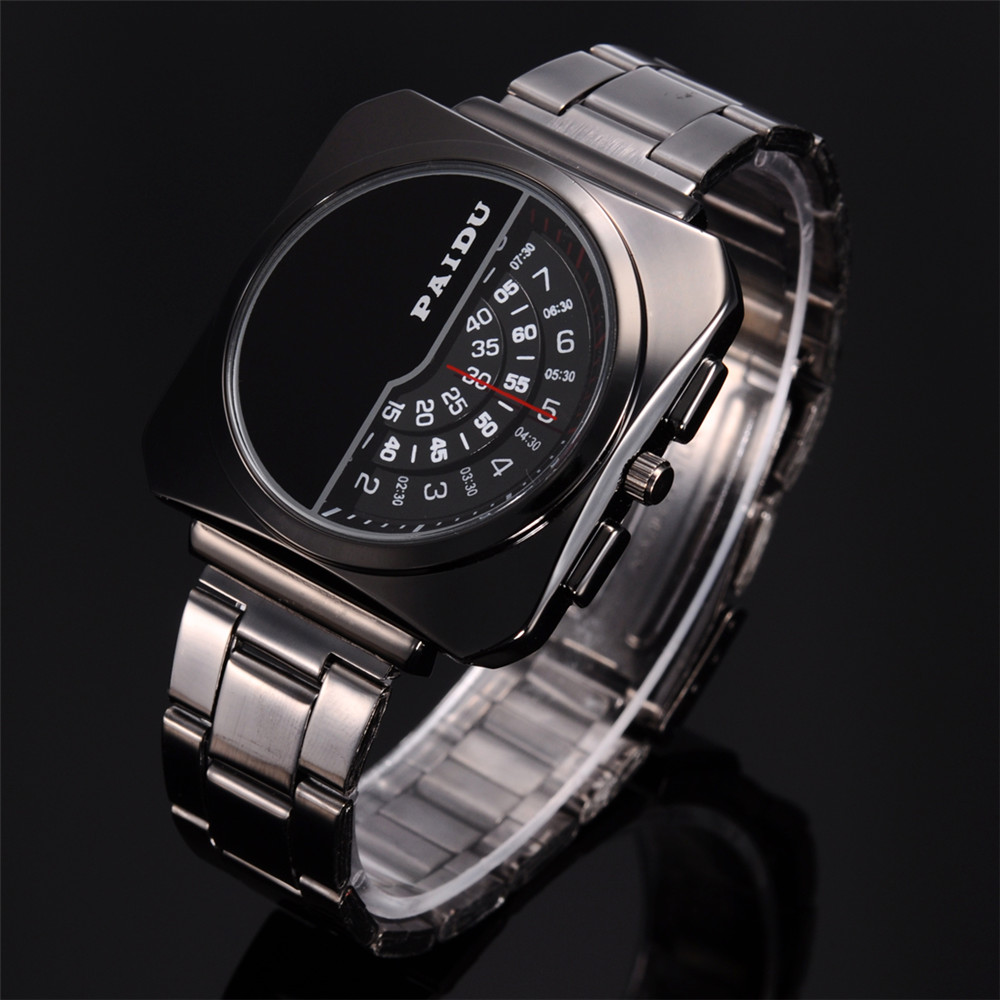 Top Brand Luxury  Men's Watches Stainless Steel Band Analog Display Quartz Men Wrist watch Ultra Thin Dial Fashion Men's Watches top brand luxury digital led analog date alarm stainless steel white dial wrist shark sport watch quartz men for gift sh004