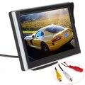 Envío gratis 5 pulgadas TFT LCD Monitor del coche del coche que invierte el estacionamiento Monitor para cámara de vista trasera VCD / DVD / GPS