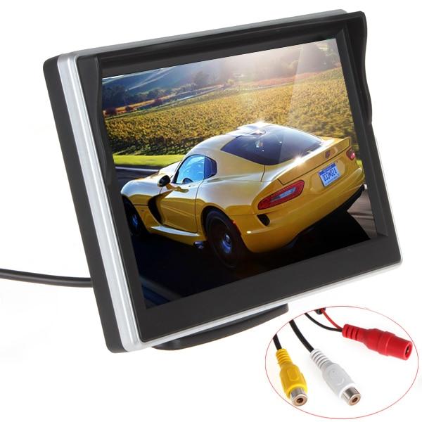 imágenes para Envío gratis 5 pulgadas TFT LCD Monitor del coche del coche que invierte el estacionamiento Monitor para cámara de vista trasera VCD / DVD / GPS