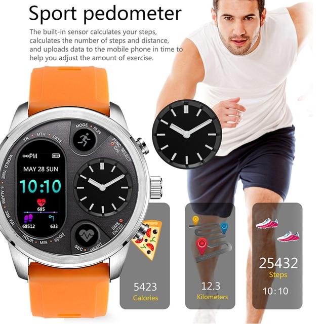 Blood Pressure & Heart Rate Monitor Pedometer Waterproof Smart Watch 4