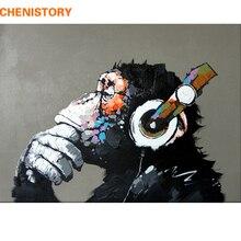 CHENISTORY абстрактная Обезьяна DIY Краска ing по номерам Home Wall Art Картина Краска по номерам каллиграфия краска ing 40×50 см работа
