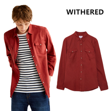 Popular Red Denim Shirt-Buy Cheap Red Denim Shirt lots from China ...