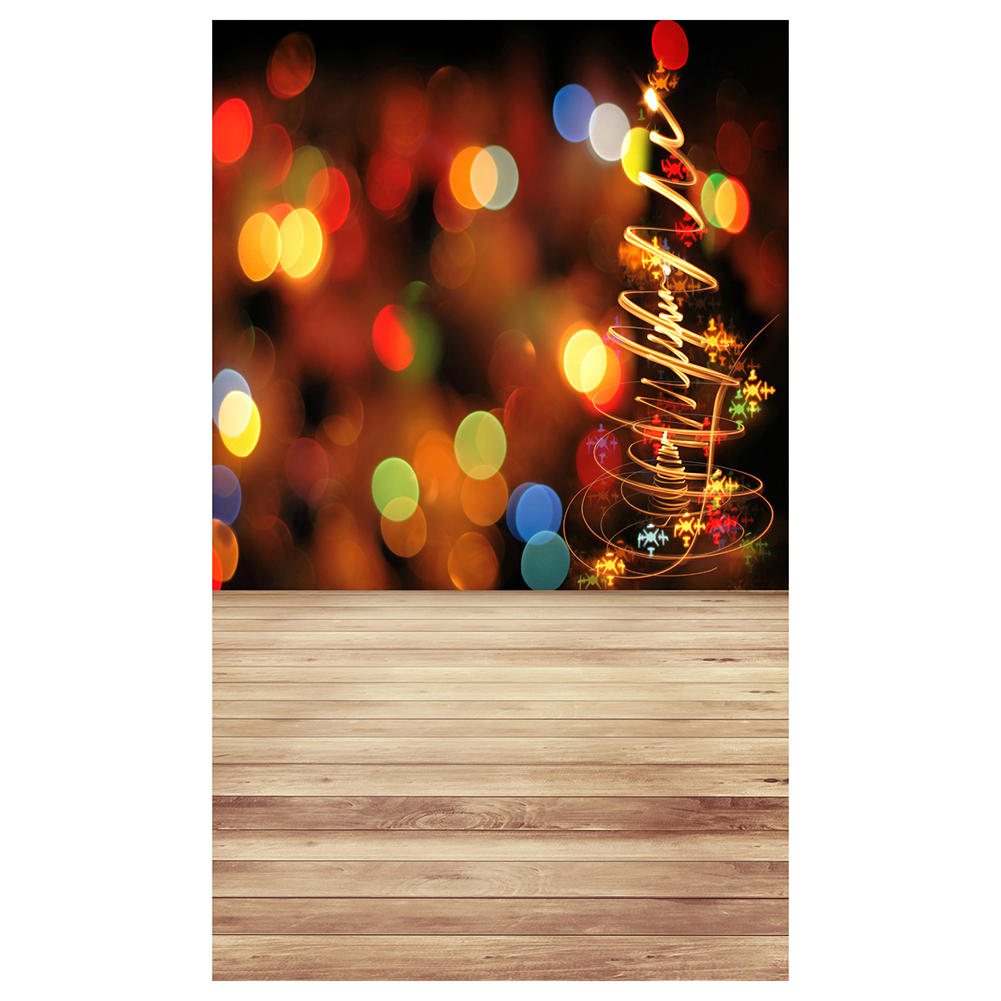 5X7FT 150X210CM Vinyl Christmas theme picture cloth custom photography background studio props Wooden floor aperture