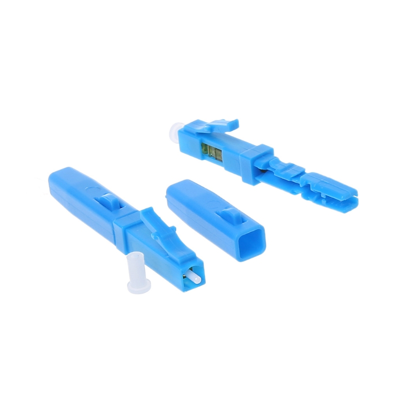 50PCS FTTH LC fast connector LC UPC single mode SM telecom level communication equipment optical fibre field connector