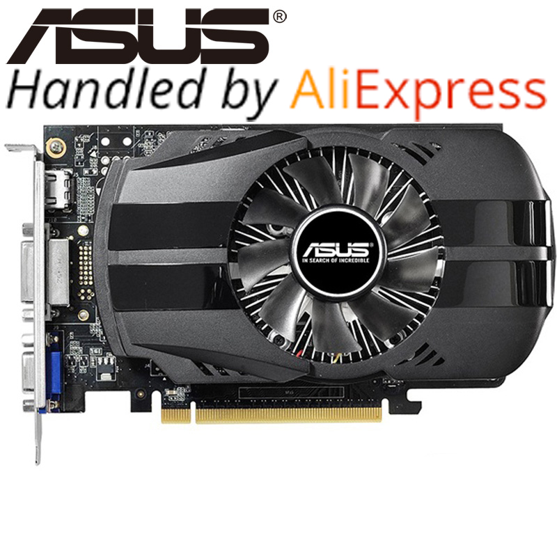 ASUS Carte Vidéo D'origine GTX 750Ti 2 GB 128Bit GDDR5 Cartes Graphiques pour nVIDIA Geforce GTX750Ti Utilisé VGA Cartes Hdmi Dvi Sur Vente