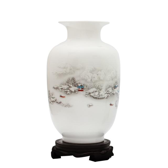 Antique Snow Scenery Vase Ancient Ways Jingdezhen Ceramic Vase For