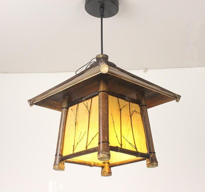 Japanski moderni privjesak od bambusa Svjetlo Washitsu Tatami Decor - Unutarnja rasvjeta - Foto 4
