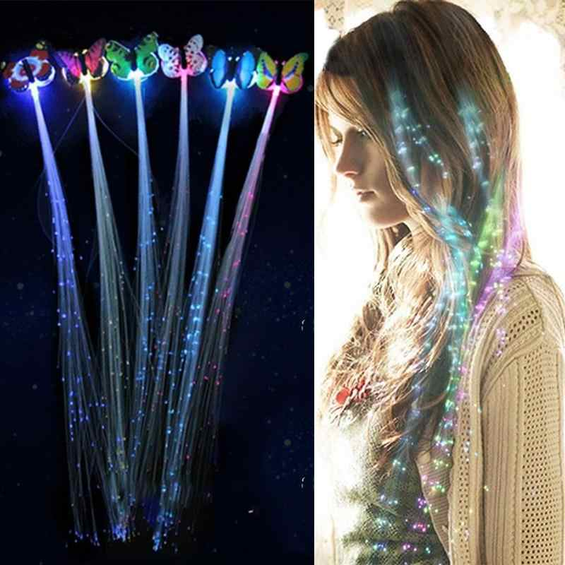 1/2/5Pcs LED Flashing Hair Braid Glowing Luminescent Hairpin Novetly Hair Ornament Girls Led Toys New Year Party Christmas Gift