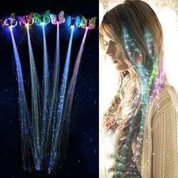 5 шт. светодиодные, мигающие, для волос оплетка светящиеся люминесцентные шпильки Novetly украшения для волос светодио дный LED игрушечные