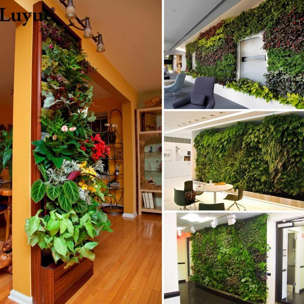 Décorer Un Mur De Jardin luyue plante mur pelouse artificielle buis haie jardin arrière-cour décor à  la maison simulation herbe gazon tapis pelouse extérieure fleur mur