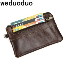 weduoduo Brand Coin Pocket Soft Genuine Leather Portable Holder  Card Holders Mini Fashion Organizer Cases