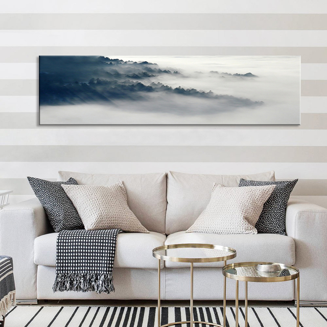Nordic Poster Mountain Natural Abstract Wall Pictures Living Room Art Decoration Scandinavian Canvas Painting Prints