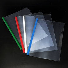 1PC Simple Solid Color Plastic Transparent A4 Document Folder Business Storage File Folder for Papers Stationery(China)