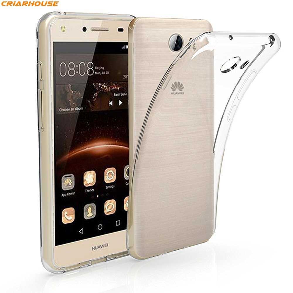 لهواوي Y3 Y5 2 II Y3II Y5II Y6 Elite هاتف مصغر مدمج حافظة لينة جل تي بي يو شفاف (شفاف) غلاف خلفي من السيليكون