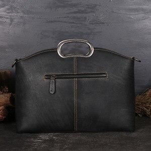 Image 4 - Johnature女性高級ハンドバッグ本革トートバッグレトロ手作りトーテム牛革女性のバッグ大容量ショルダーバッグ