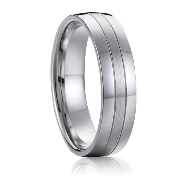 Titanium Jewelry Wedding Band Mens Anniversary fashion Օղակաձև - Նորաձև զարդեր - Լուսանկար 5