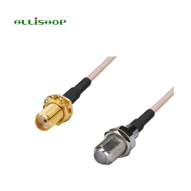 2 pieces 0-6Ghz Extension SMA connector to F female socket jack adapter RG316 cable 30CM for wifi antenna ALLiSHOP