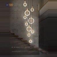 LED Nordic Wooden Iron Acryl Rings DIY LED Lamp LED Light Pendant Lights Pendant Lamp Pendant