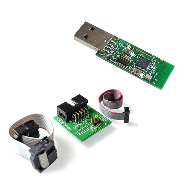 CC2531 CC2540 Bluetooth BLE 4.0 Zigbee Sniffer Wireless Board Dongle Capture Module USB Programmer Downloader Cable Connector
