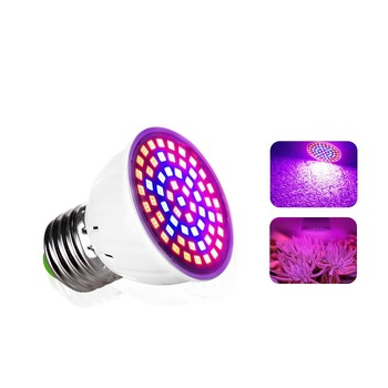 LED Grow Light Lamp E27 220V Full Spectrum Phyto Lamp 60LEDs 41 Red 19 Blue Indoor Plant Lamp For Plants Vegs Hydroponic System