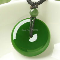 Natural Green HeTian Jade Jasper Peace Buckle Auspicious Blessings Lucky Pendants + Free Necklace Certificate lovers Jewelry