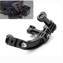 Câmera para gopro hero 7 6 5 4 session 3 + 3 2 1, extensão curvada com braço suporte de montagem de parafuso de conexão rotativa