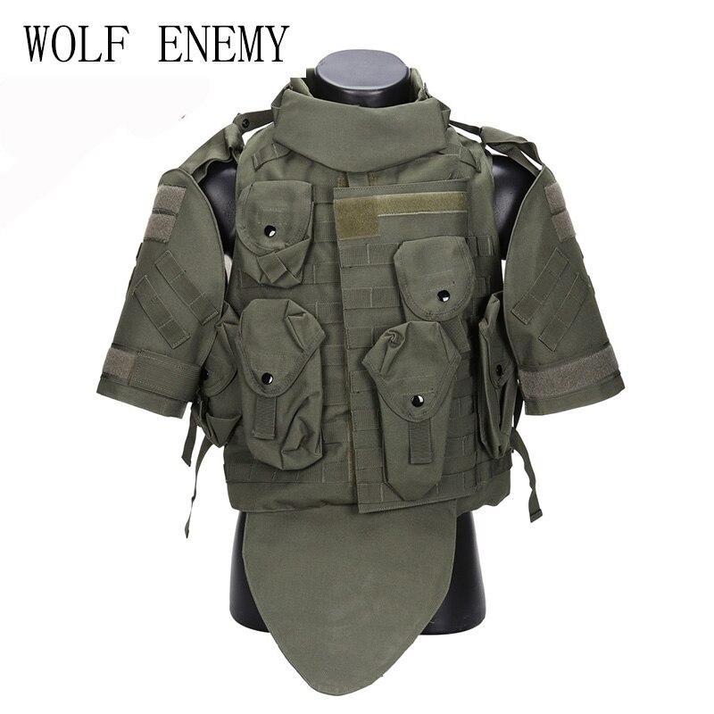 Gilet tactique OTV Camouflage armure de combat avec pochette/Pad ACU USMC Airsoft militaire Molle support de plaque d'assaut CS vêtements